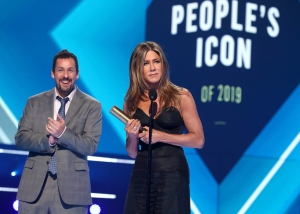 Jennifer Aniston Accepts the 2019 People's Icon Award from Friend Adam Sandler