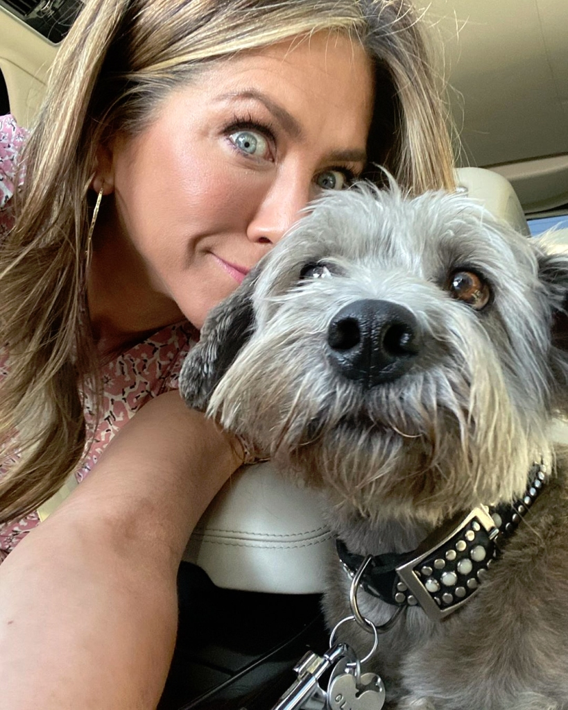 Jennifer Aniston Instagram Selfie With Dog
