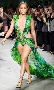 Jennifer Lopez Versace Dress Runway Versace Show