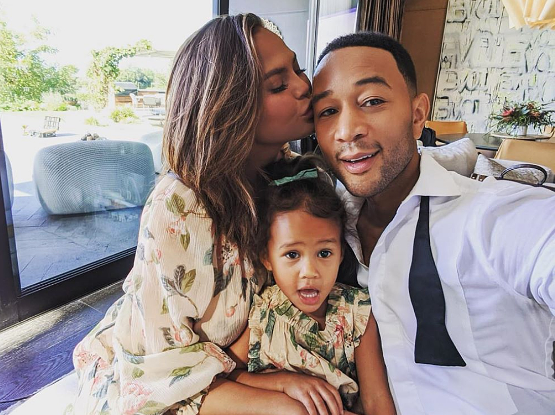 John Legend Sings With Chrissy Teigen and Daughter Luna in New Version of 'Happy Christmas (War Is Over)'