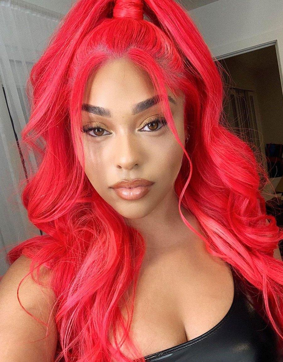 Jordyn Woods Neon Wig Instagram