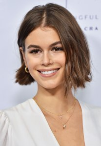 "Kaia Gerber Wears ""P"" Necklace"