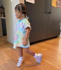 Kardashian Kids Stormi Wears Tie-Dye