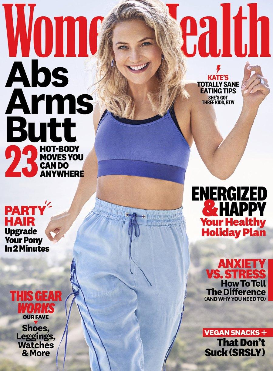 Kate Hudson Mothering Mistakes Women's Health December 2019 Cover