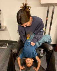 Kendall Jenner Jokes About Starting a Family With Fai Khadra While Cuddling Nephews Saint and Psalm Instagram
