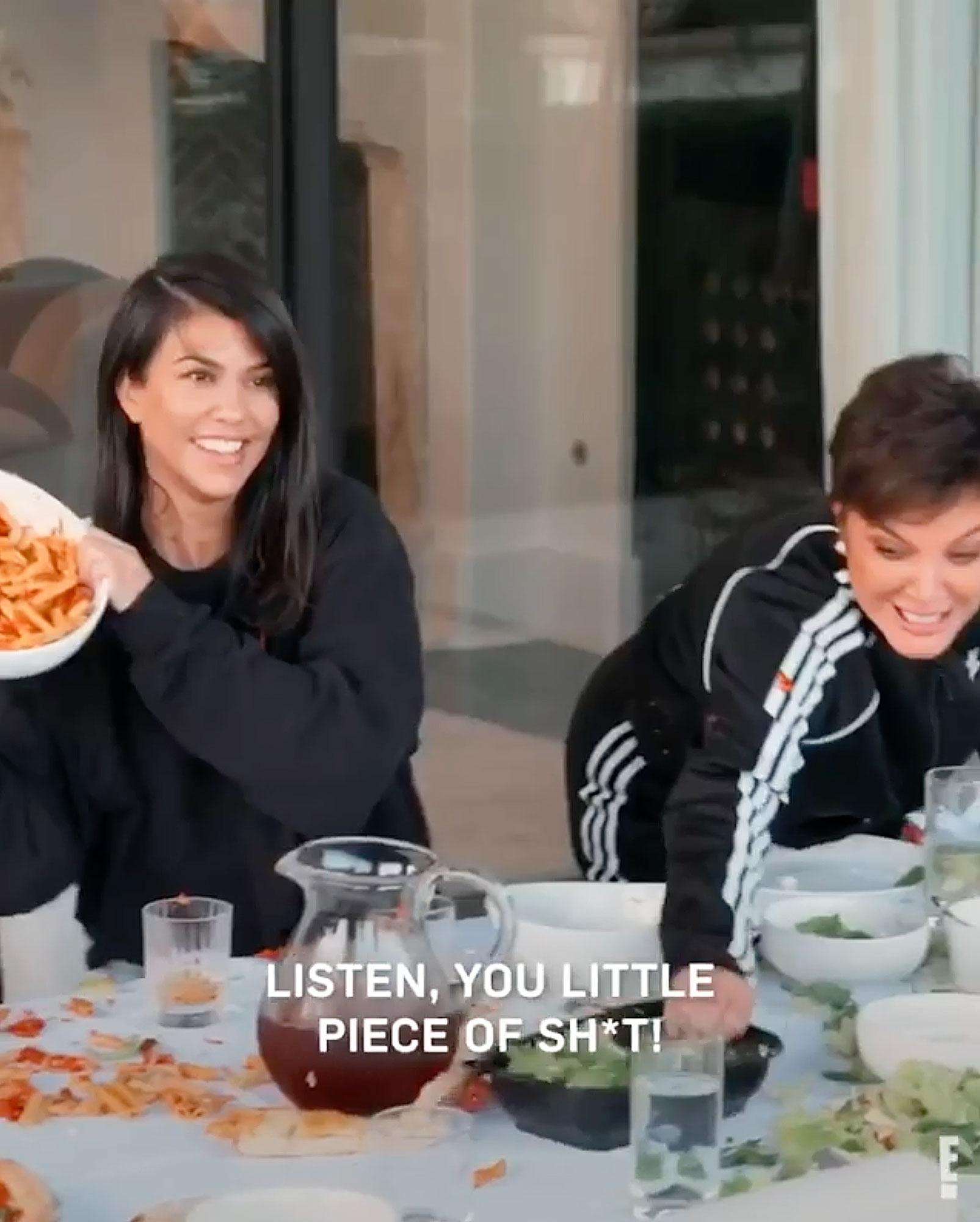 Kim Kardashian Throws a Bowl of Pasta at Khloe in 'Bizarre, Disturbing and Unacceptable' Food Fight