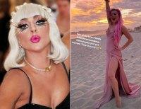 Lady Gaga Hair Change Blonde to Pink