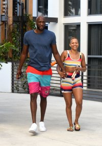 Lamar Odom and Fiancee Sabrina Parr Relax by the Pool After Surprise Engagement