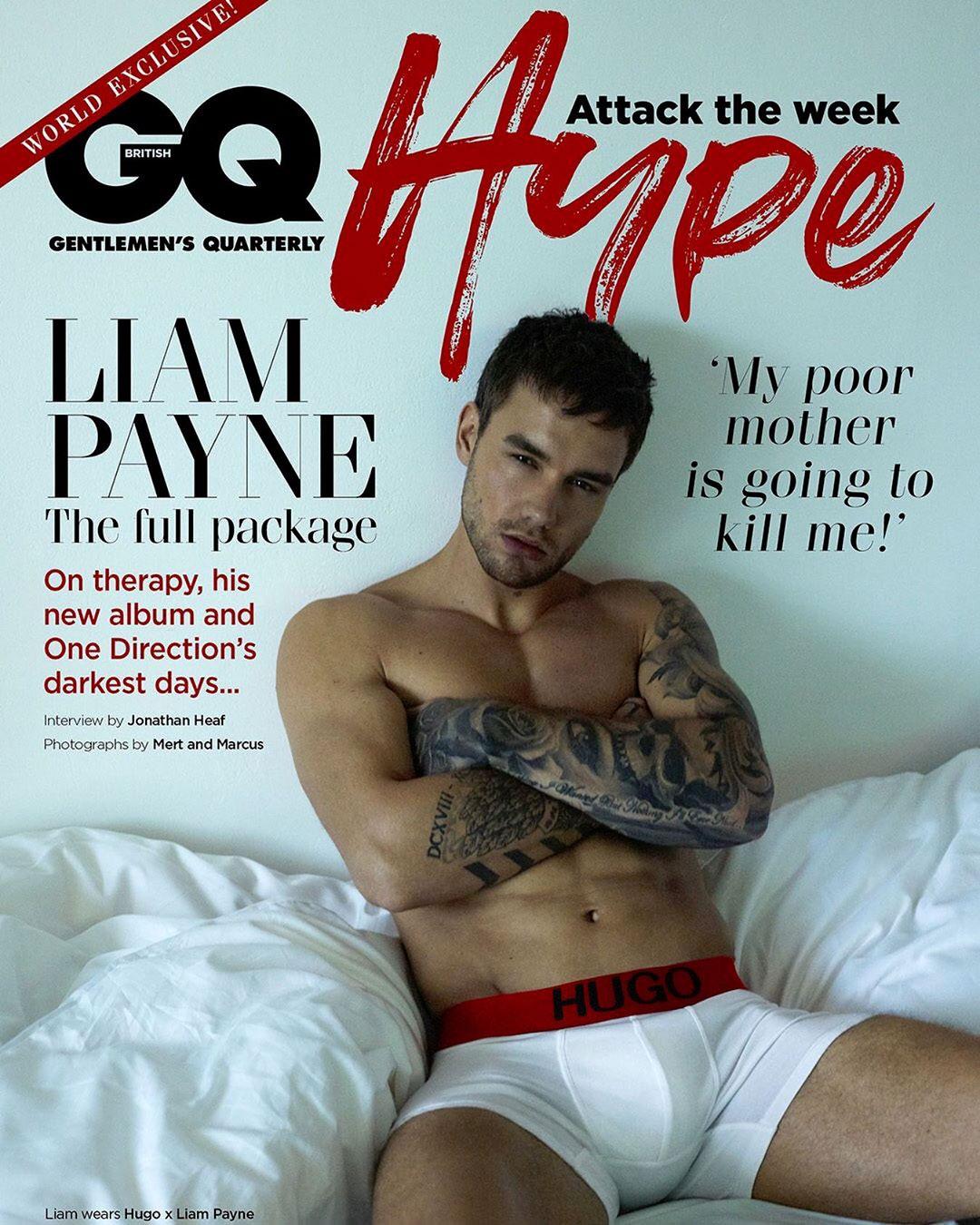 Liam Payne British GQ Cover Instagram Underwear Hugo