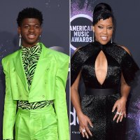 Lil Nas X Greeting Regina King AMAs What You Didn't See on TV