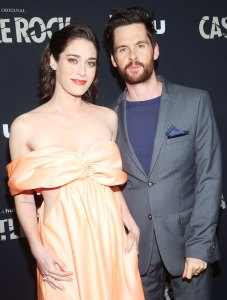 "Lizzy Caplan and Husband Tom Riley Watch ""Mean Girls"""