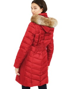 MICHAEL Michael Kors Faux-Fur-Trim Hooded Down Puffer Coat, Created For Macy's (Scarlet)