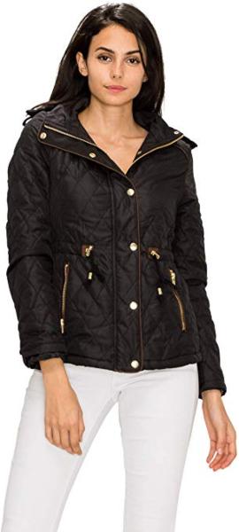 Made By Johnny Women's Military Anorak Safari Hoodie Jacket