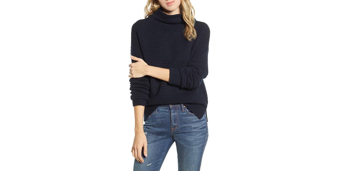 Madwell Belmont Mock Neck Sweater