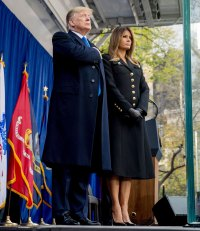 Melania Trump Button Coat November 11, 2019