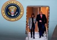 Melania Trump Grey Coat November 12, 2019