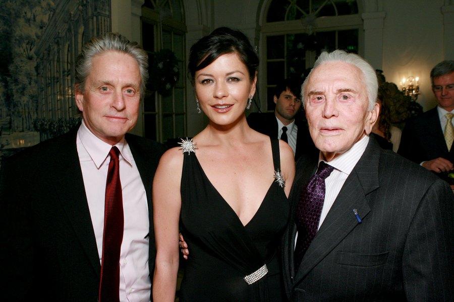 Michael-Douglas-and-Catherine-Zeta-Jones December-2006-Kirk-birthday-party