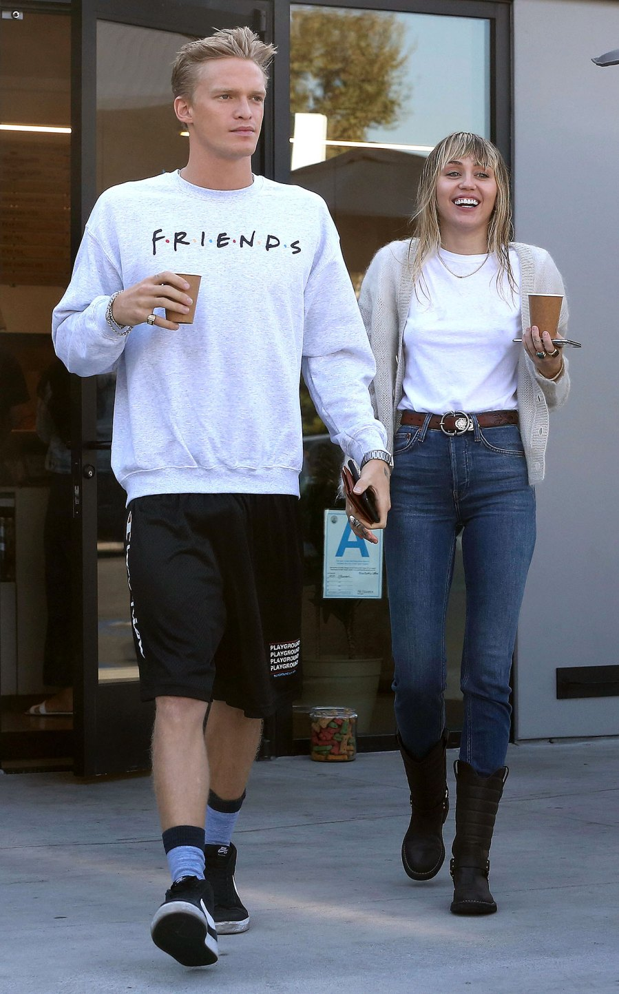 Miley Cyrus Brings Boyfriend Cody Simpson to Her Brother Braison Cyrus' Wedding