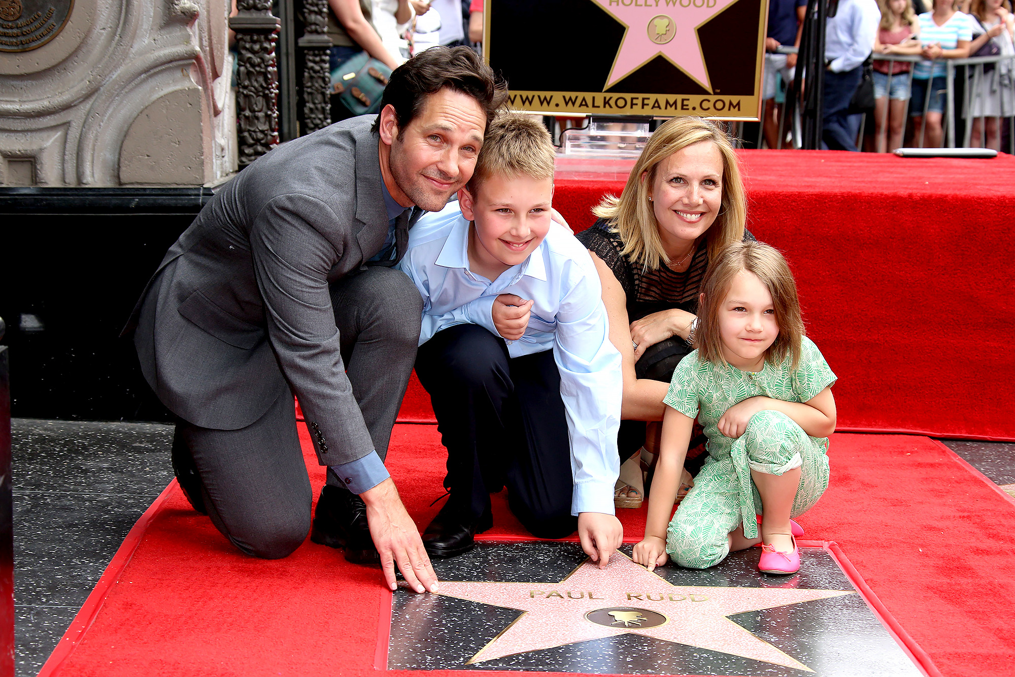 Paul Rudd with wife Julie, son Jack and daughter Darby