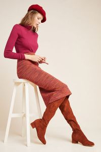 Persimmon Space-Dyed Midi Skirt