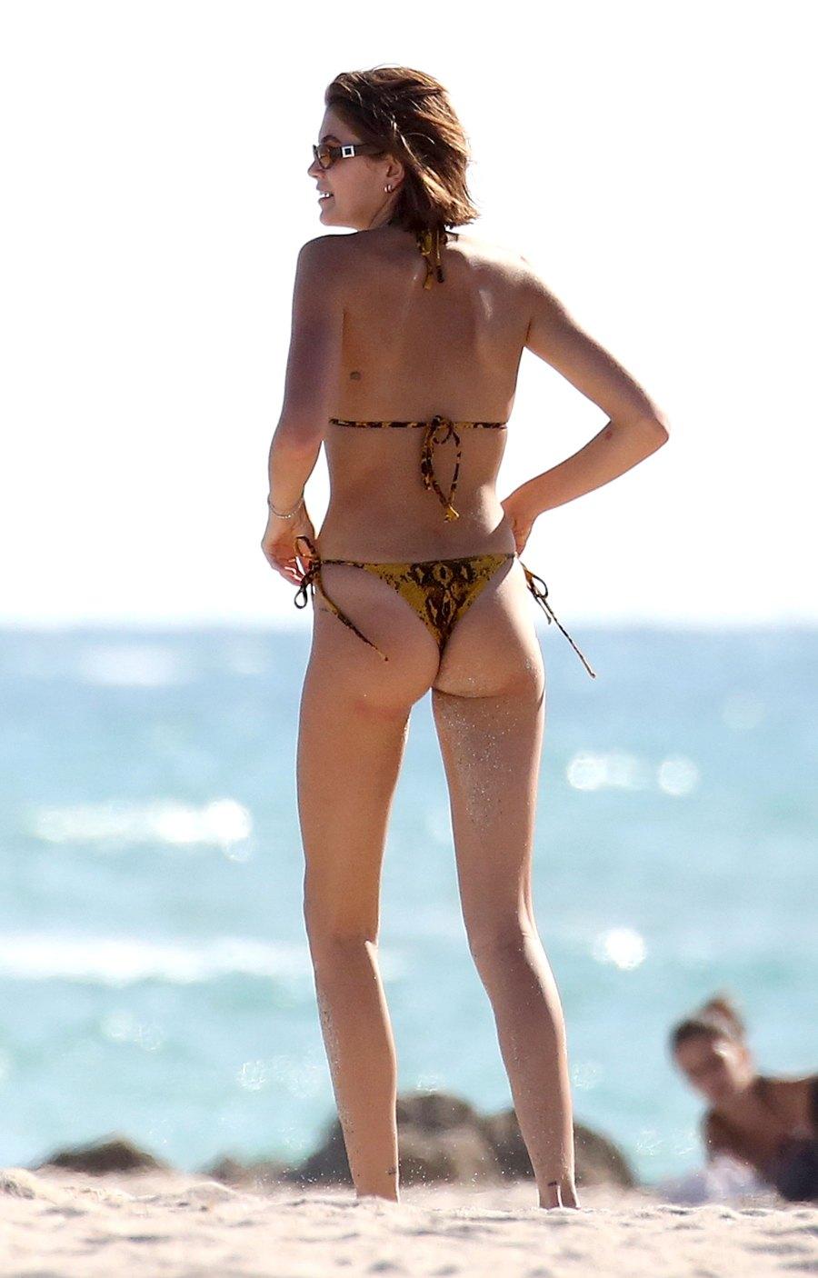 Pete Davidson Kisses Girlfriend Kaia Gerber During PDA-Filled Beach Date