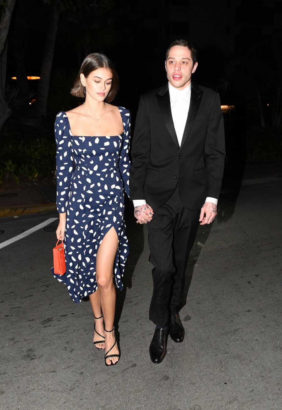 Pete Davidson and Girlfriend Kaia Gerber Spend PDA-Filled Weekend in Miami