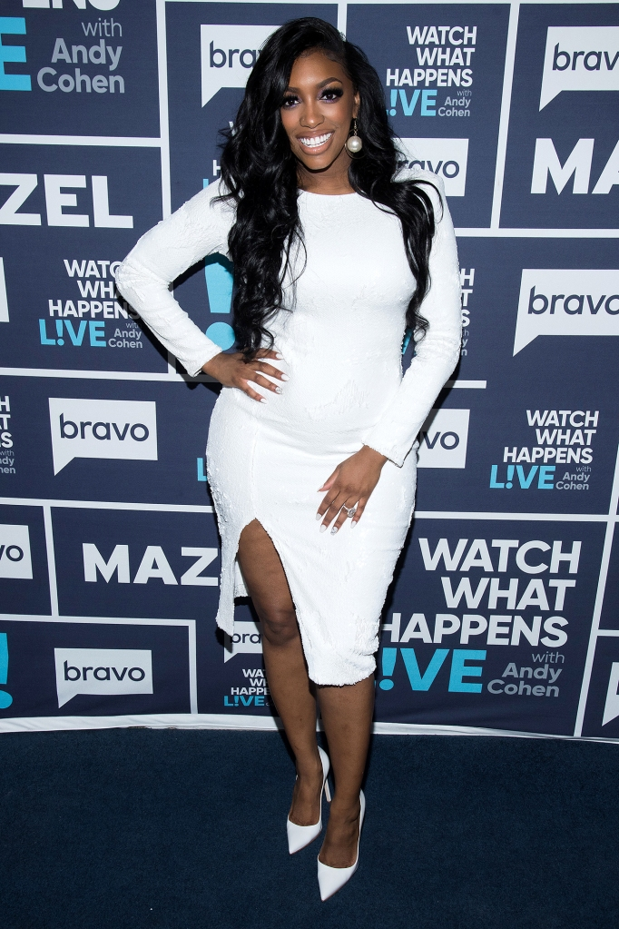 Porsha Williams Watch What Happens Live With Andy Cohen White Dress