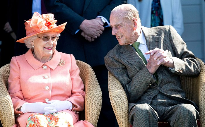 Queen Elizabeth II joined by Prince Philip Death of Prince Philip