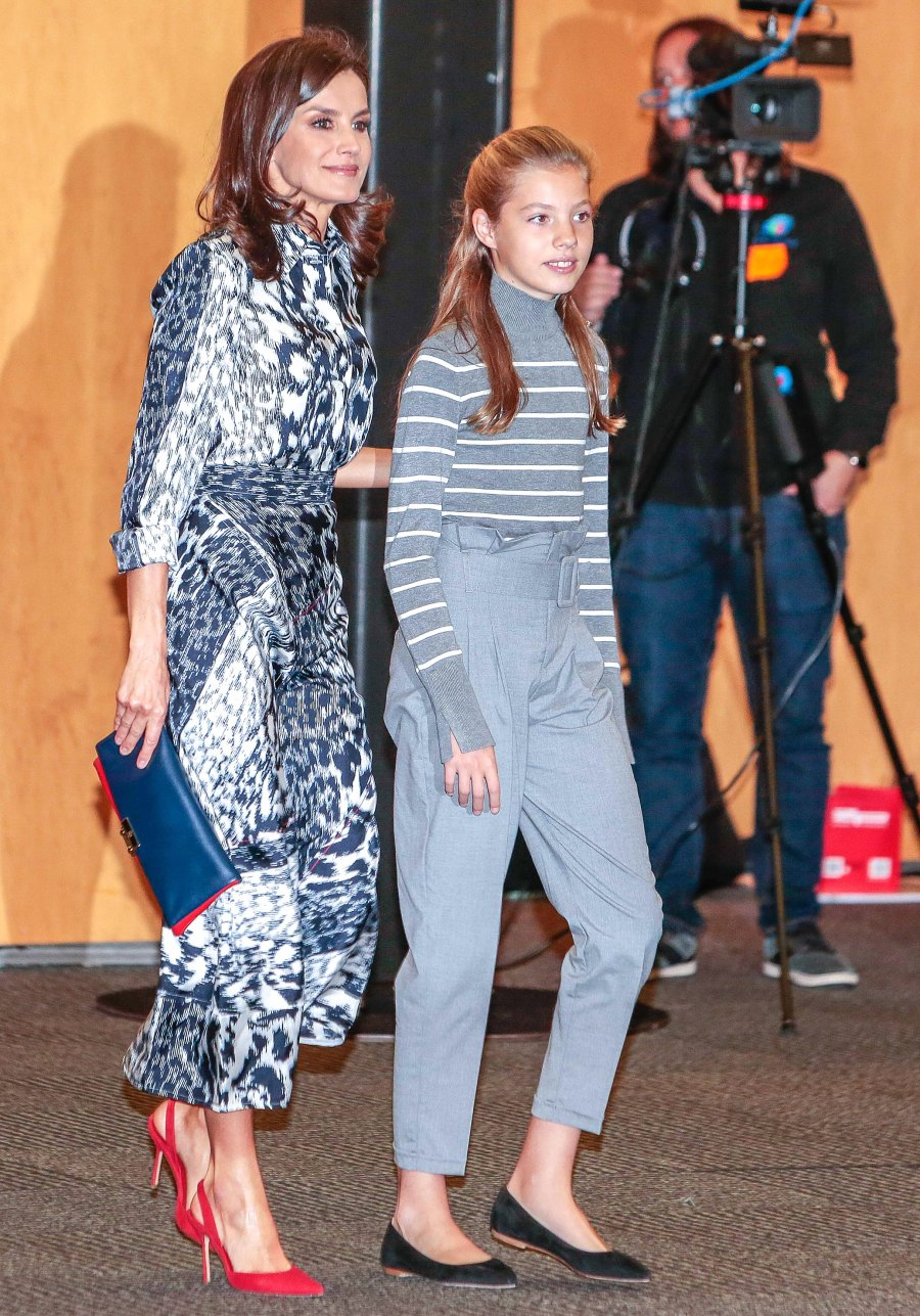 Queen Letizia Print Dress November 5, 2019