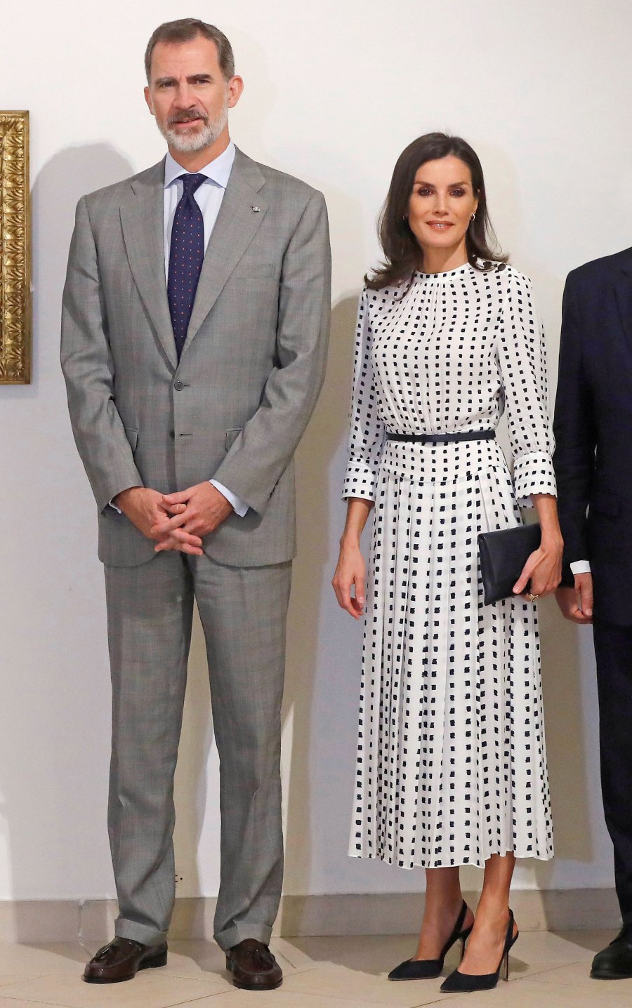 Queen Letizia Dotted Dress November 14, 2019