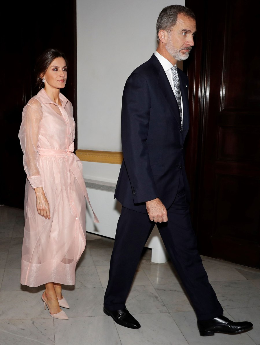Queen Letizia Peach Dress November 13, 2019