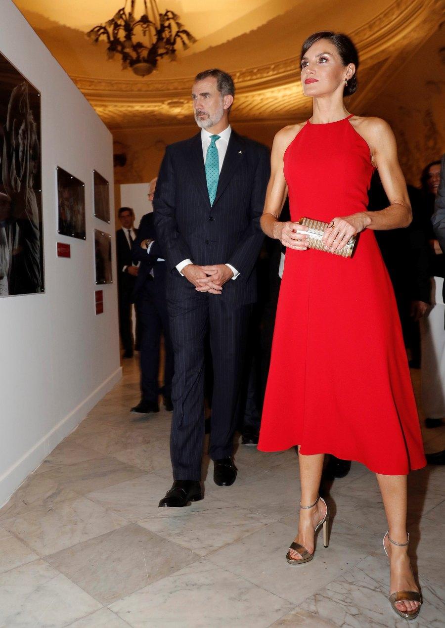 Queen Letizia Red Dress Evening Wear November 12, 2019