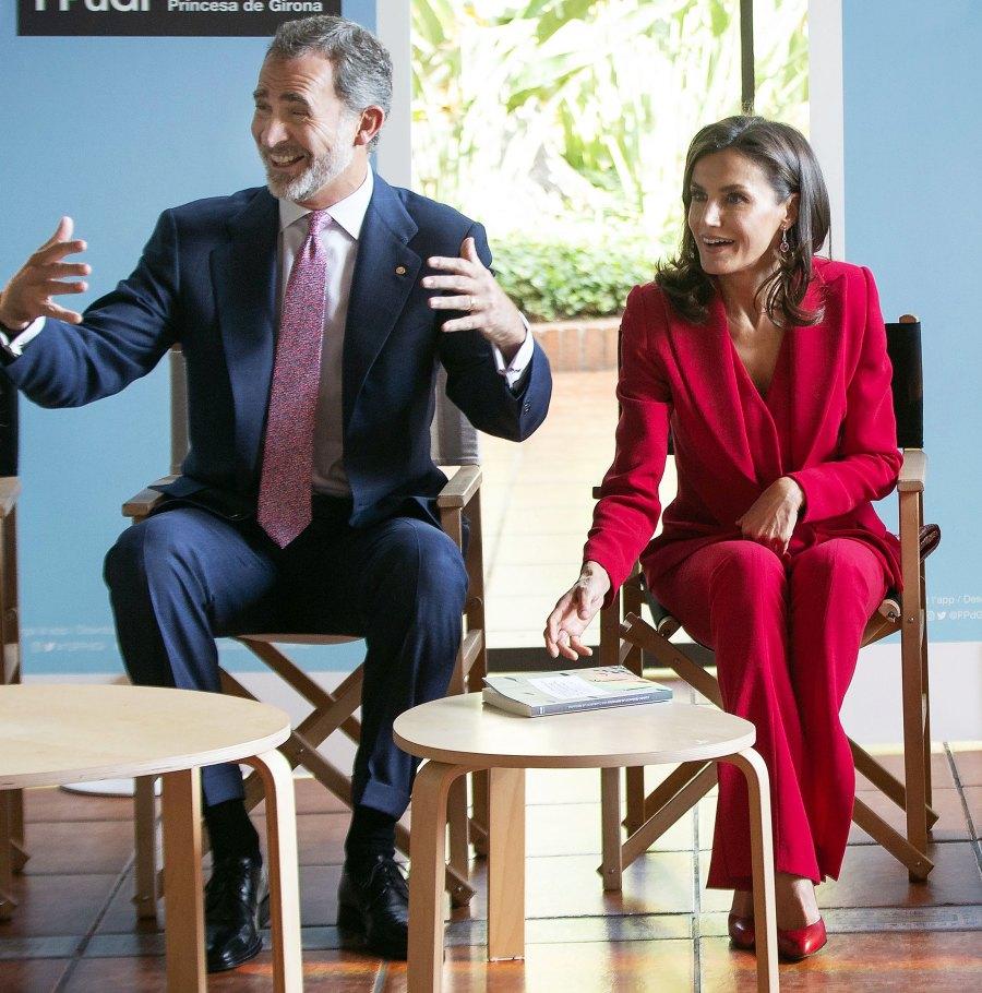 Queen Letizia Red Suit November 4, 2019
