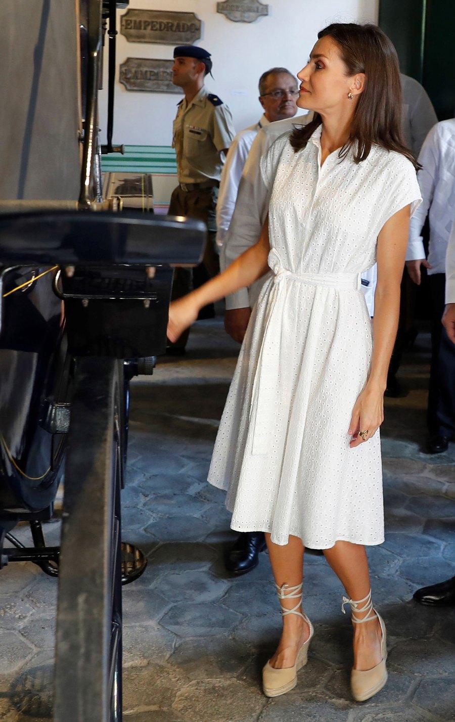 Queen Letizia White Dress November 13, 2019