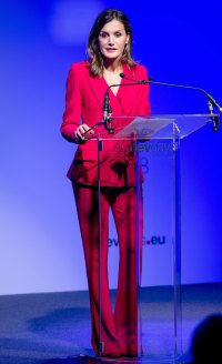 Royals In Pantsuits - Queen Letizia
