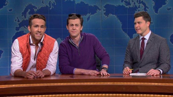 Ryan Reynolds and Alex Moffat Colin Jost Weekend Update SNL RECAP
