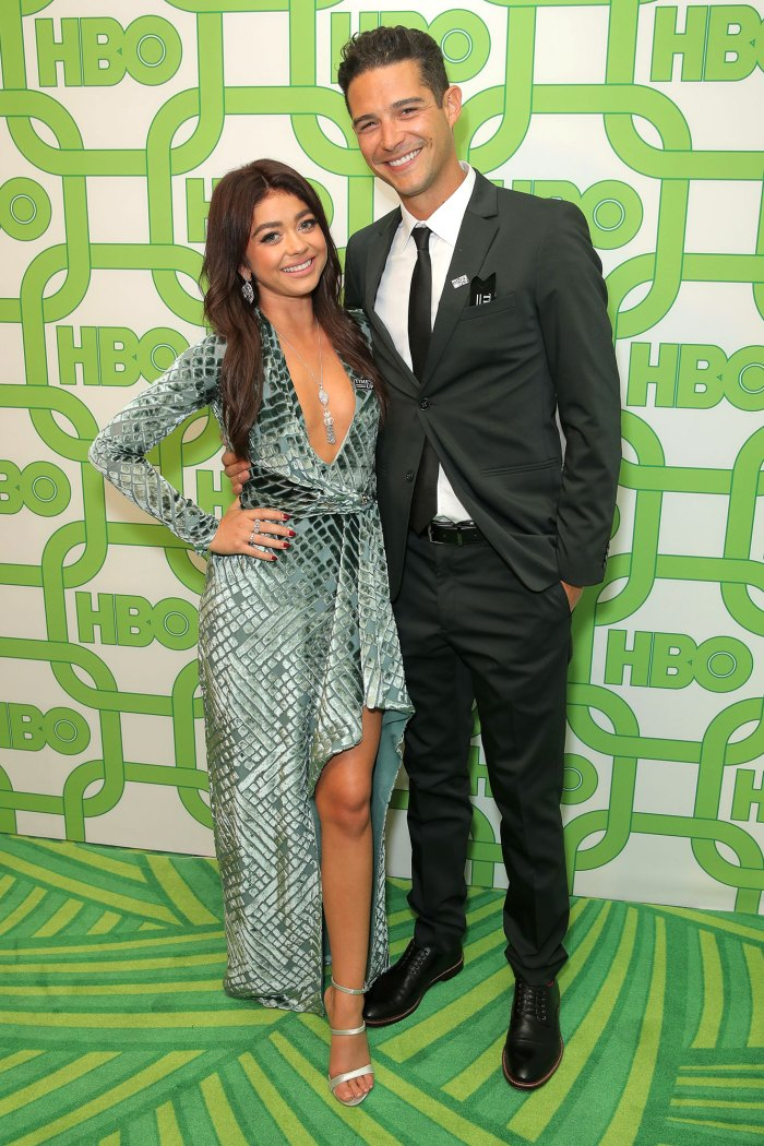 Sarah Hyland and Wells Adams HBO Golden Globes After Party