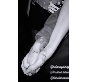Selena Gomez and Julia Michaels Matching Tattoos
