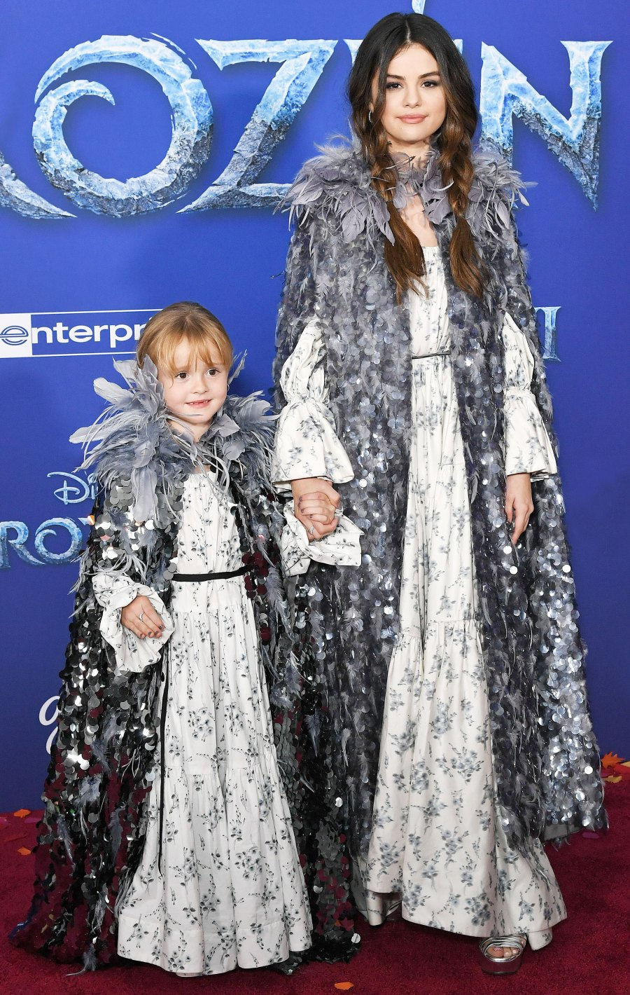 Selena Gomez Twins with Little Sister Gracie at the Frozen 2 Premiere