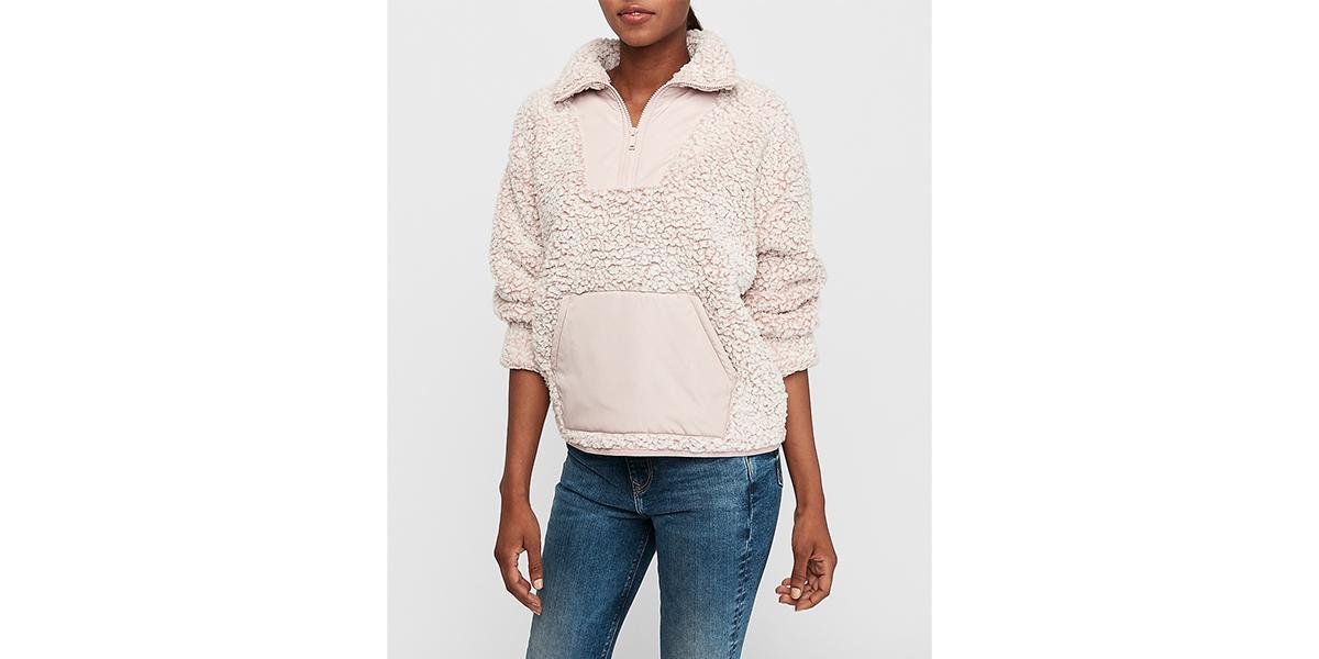 Kangaroo Pocket Cozy Sherpa Sweatshirt