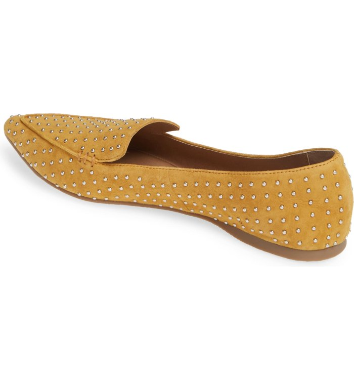 Steve Madden Feather Studded Loafer yellow
