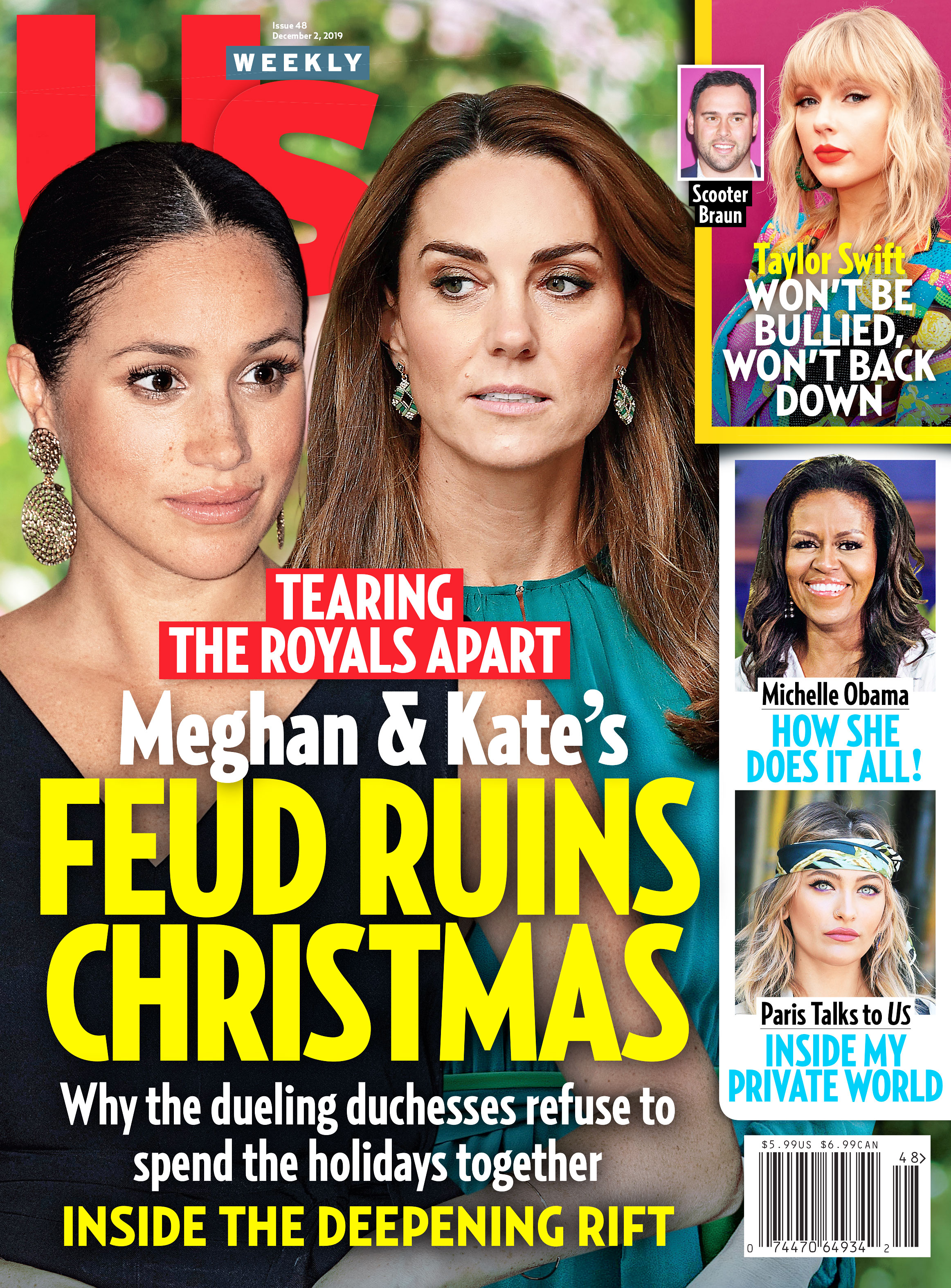Us Weekly Cover Issue 4819 Duchess Meghan and Duchess Kate Feud Ruins Christmas