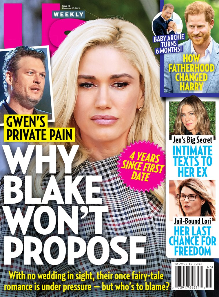 Us Weekly Cover Issue 4619 Why Blake Shelton Wont Propose to Gwen Stefani