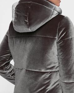 Velvet Quilted Puffer Coat (back)