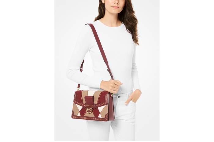 MICHAEL Michael Kors Jessie Large Flap Leather Shoulder Bag
