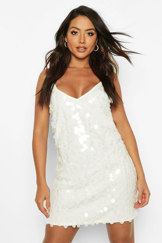 Rivinda Disc Sequin Slip Dress