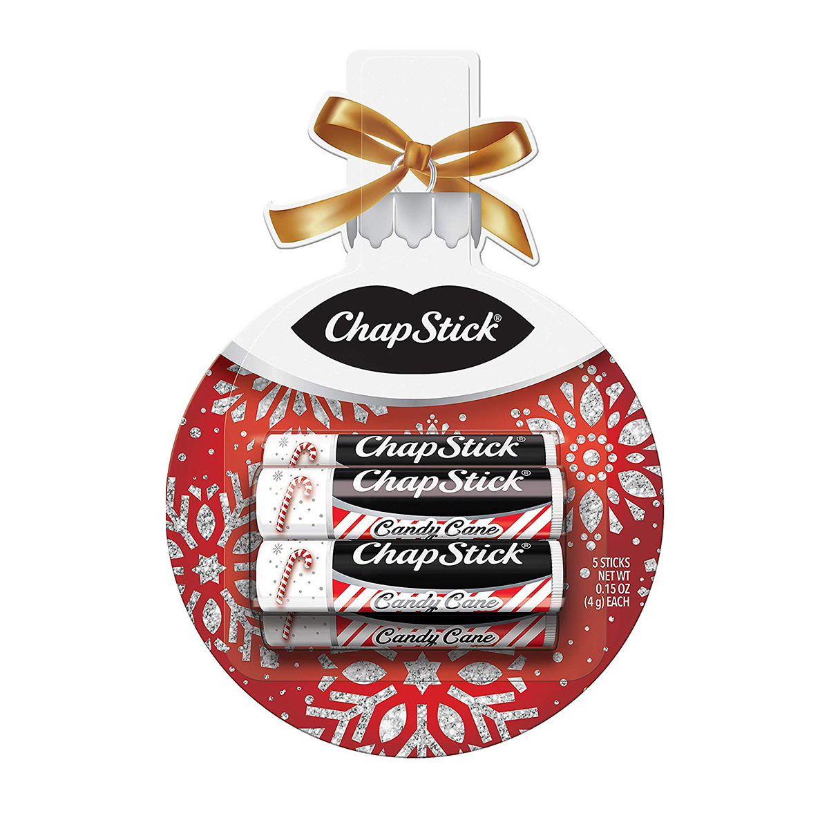 ChapStick Lip Balm Holiday Ornament Gift Pack