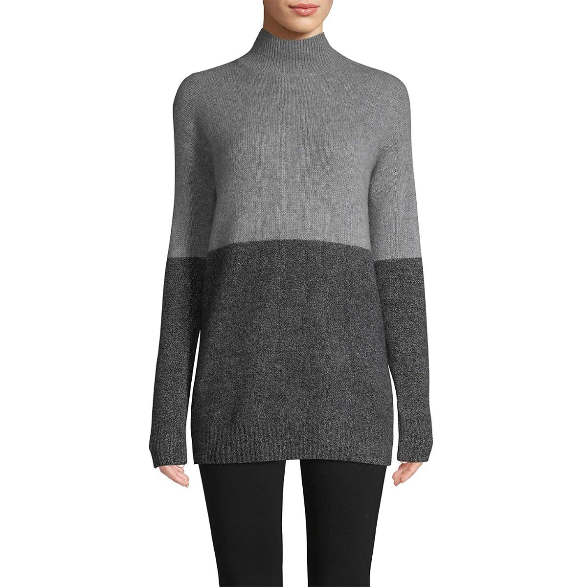 Cashmere Saks Fifth Avenue Colorblock Cashmere Sweater