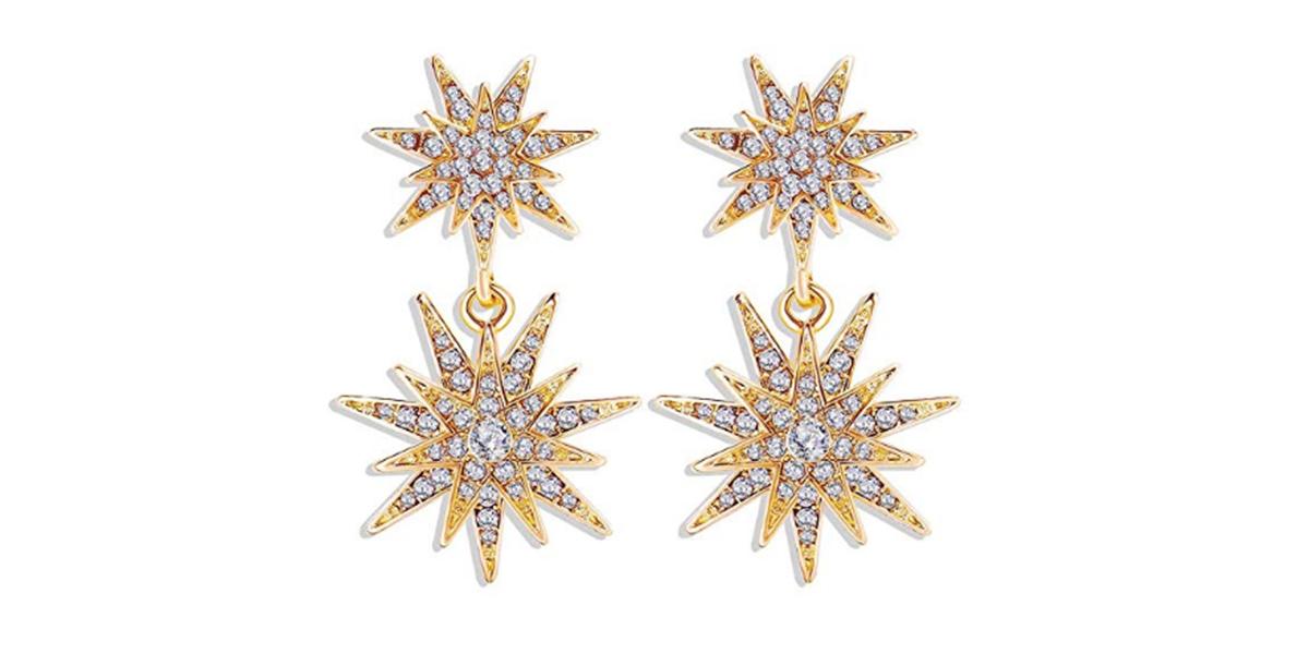 Starburst Dangle Drop Earrings