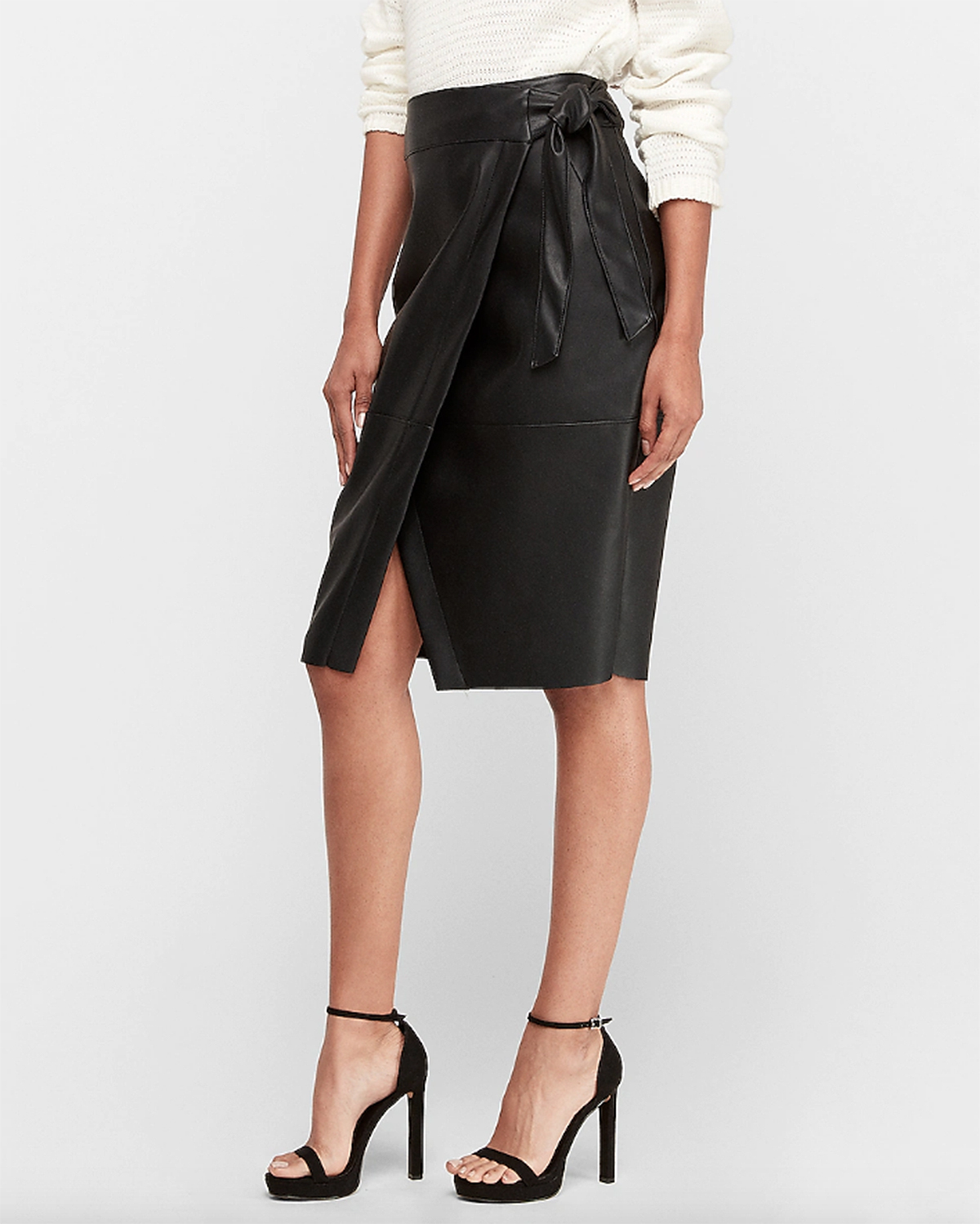 The Faux-Leather Skirt of Your Dreams Is Here — And It's Perfect